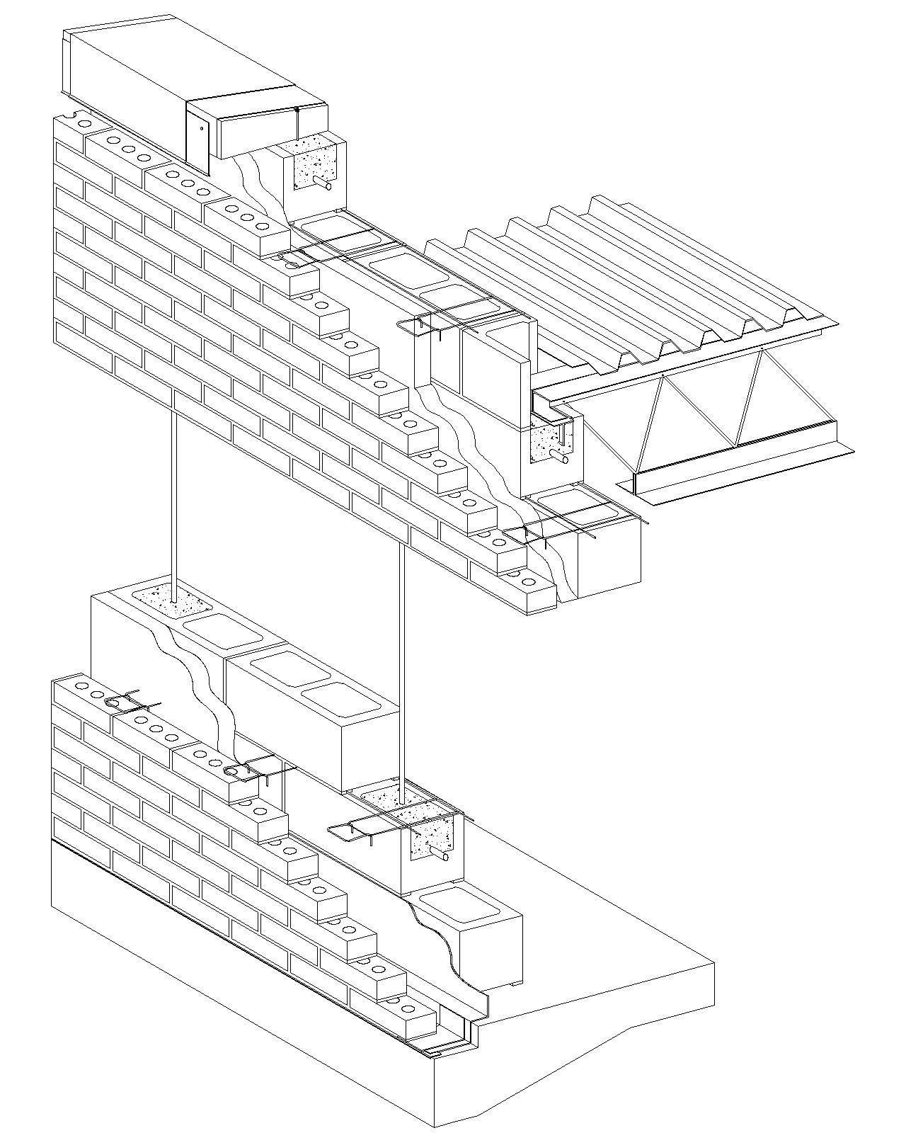 1280x1600 Cavity Wall Brick Veneerreinforced Concrete Block