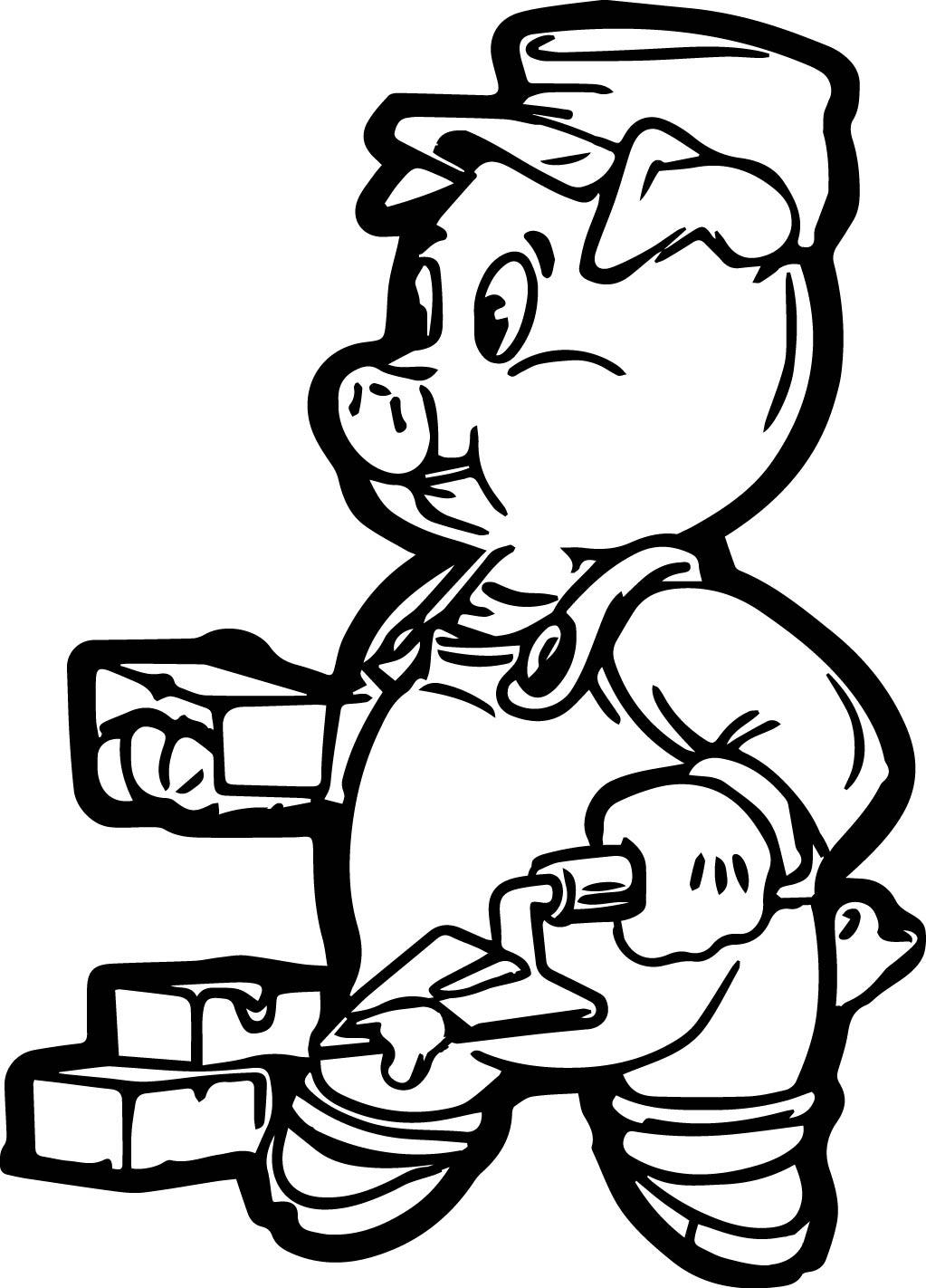 1023x1422 Brick Pig Coloring Page Wecoloringpage