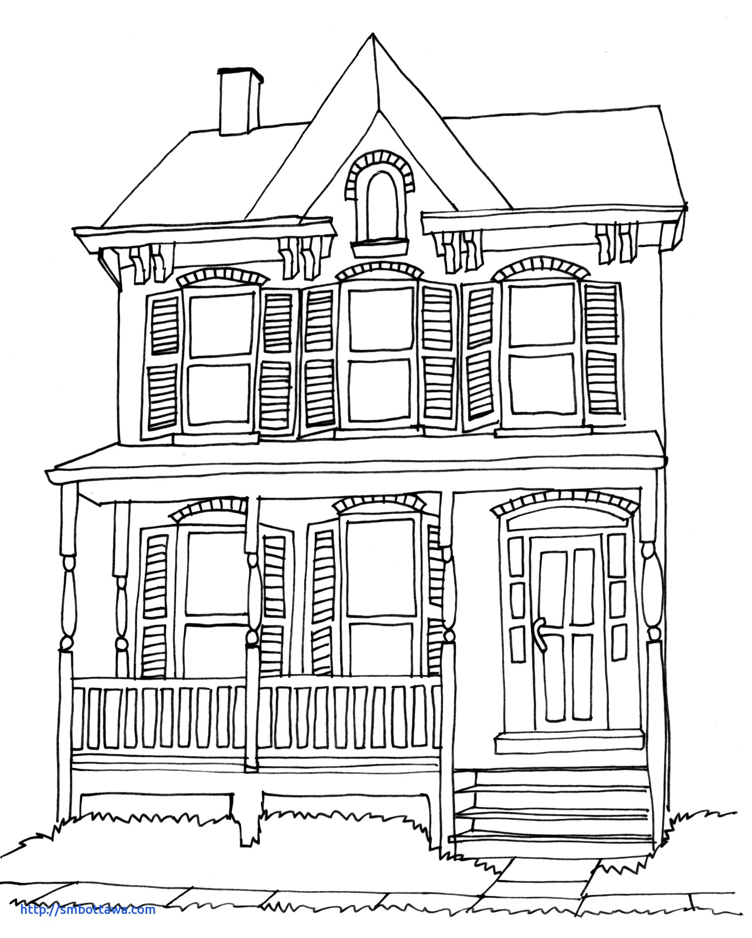 1498x1868 House Drawing New Brick House Drawing Stock Vector Shutterstock