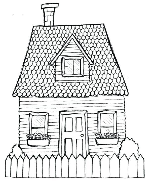 600x720 House Drawing Pics