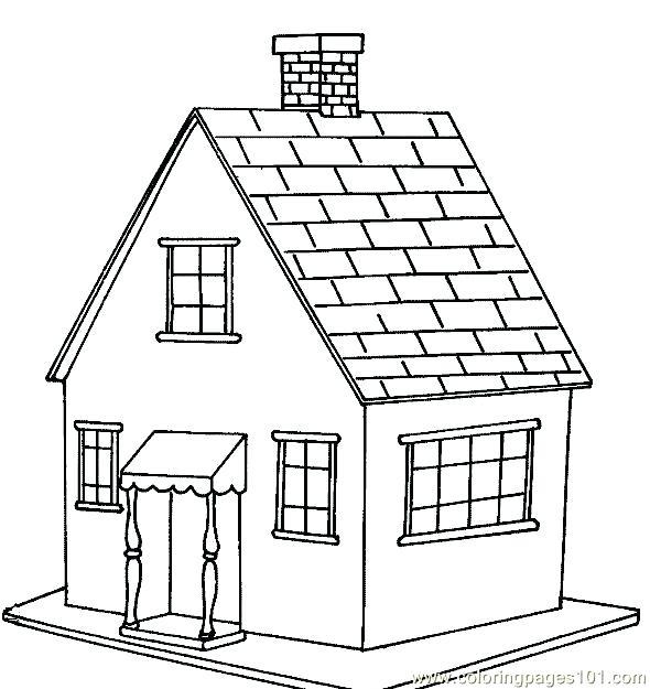 590x625 Brick Coloring Page Brick House Brick House Clip Art Library