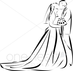 300x291 Wedding Kiss Clipart Bridal Images