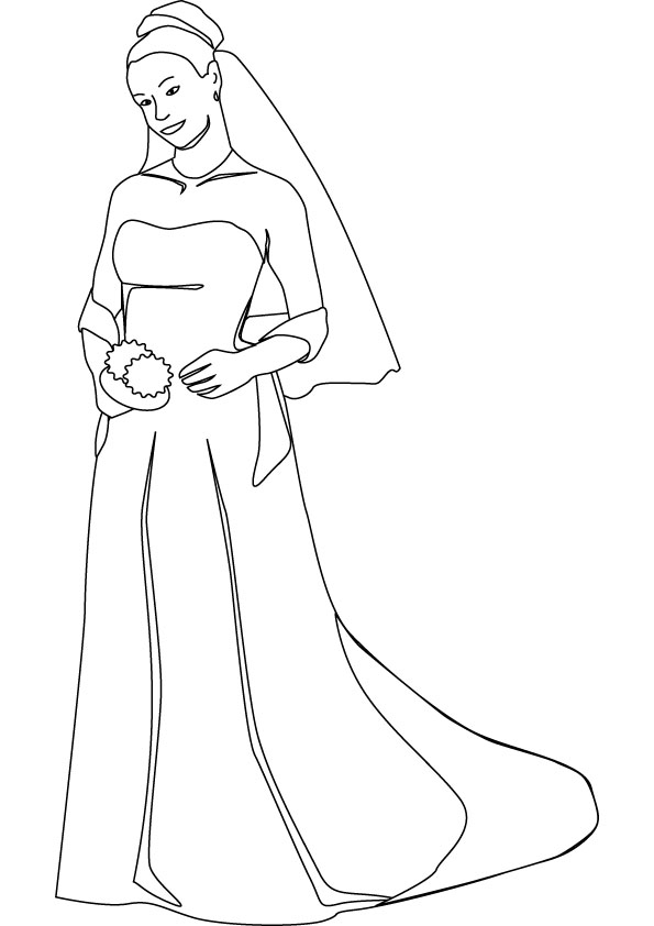 595x842 Bride Coloring Pictures