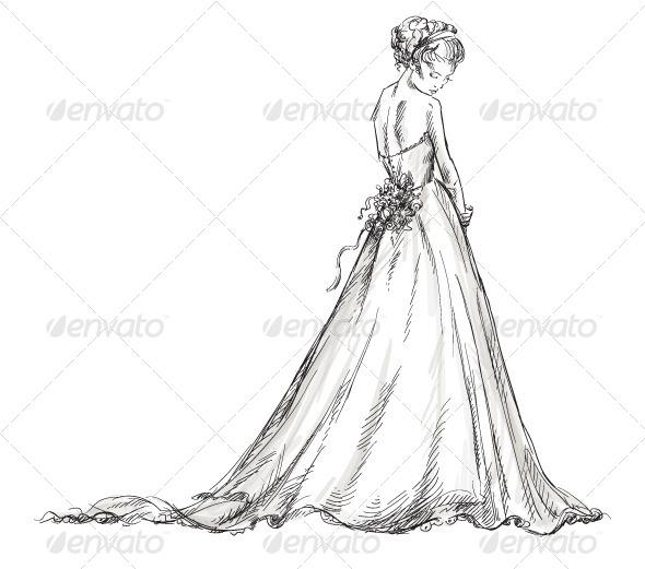 590x521 Bride. Girl In A Wedding Dress By Kamenuka Graphicriver