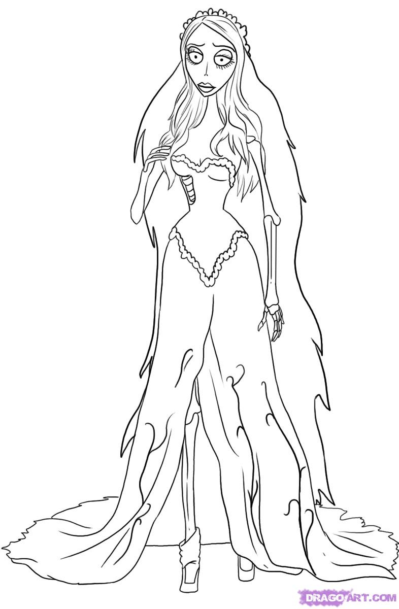 786x1200 Corpse Bride Drawing 6. How To Draw Emily From Corpse Bride