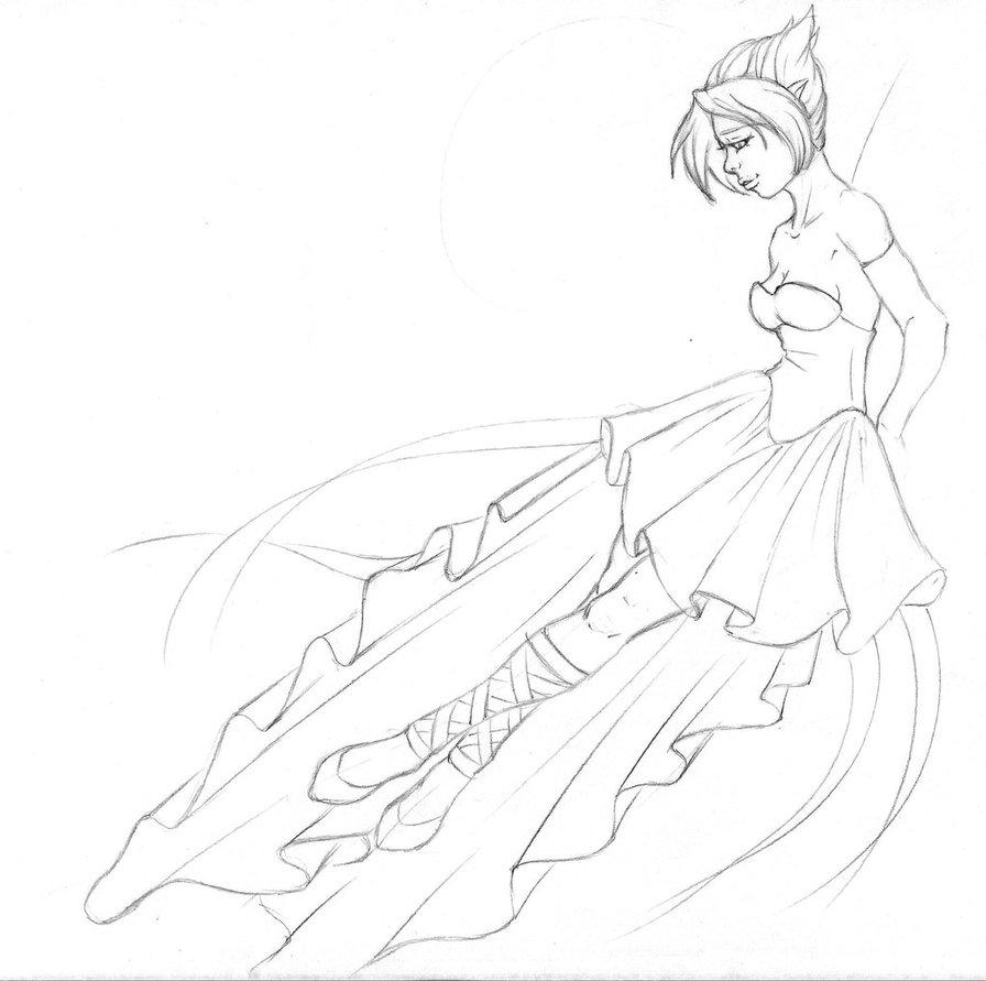 896x891 Fairy Bride Wip Sketch By Tiffanytiger