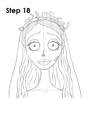 300x388 How To Draw Corpse Bride (Emily)