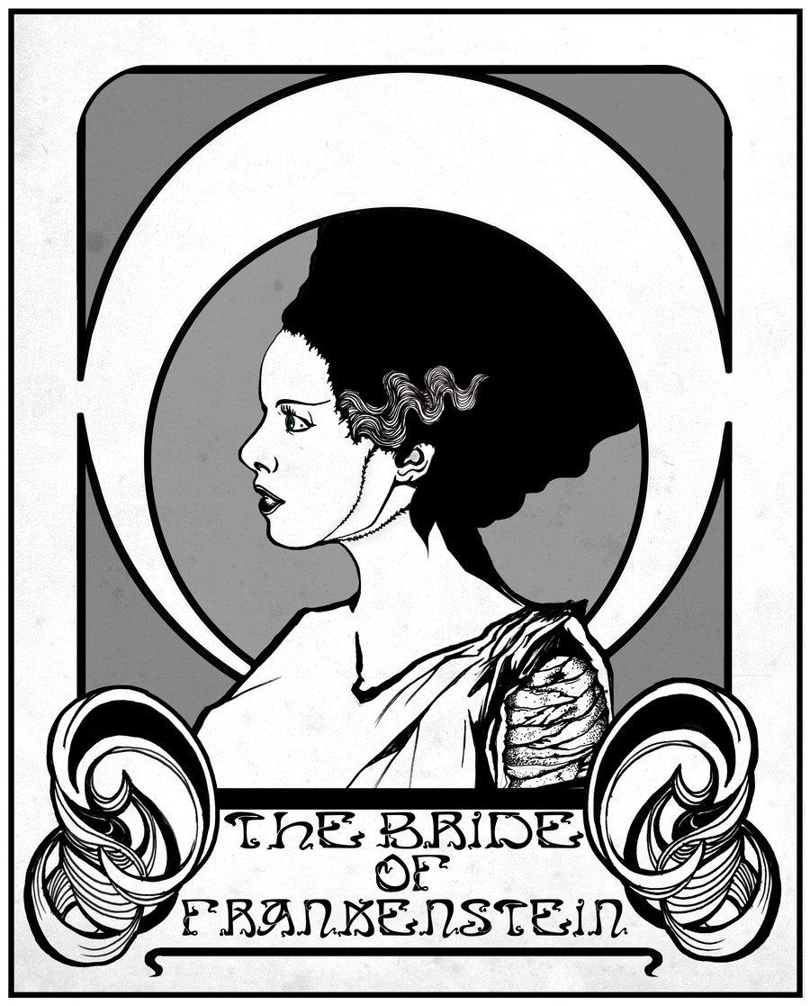900x1117 Bride Of Frankenstein By Alf Sims