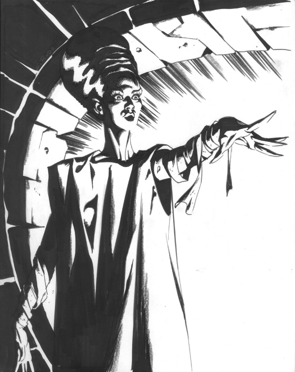 993x1250 Bride Of Frankenstein, In Steve Rude's Sketches 2011 Comic Art