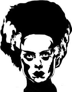236x300 Bride Of Frankenstein Vinyl Decal Mary Shelly Boris Karloff Horror