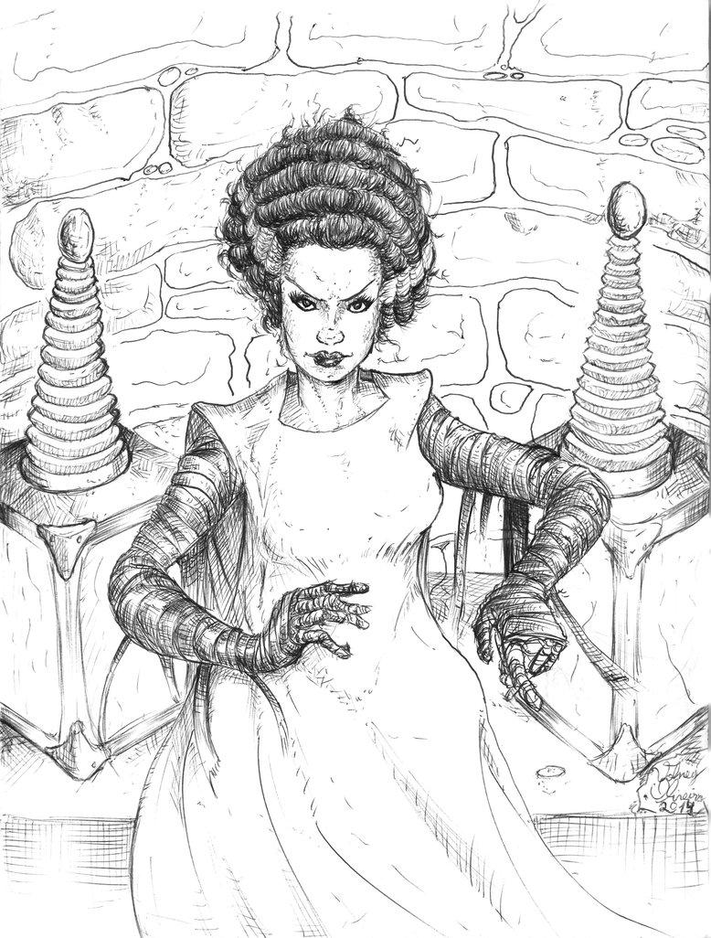 778x1026 Bride Of Frankenstein By Volney Oliveira By Volneyoliveira