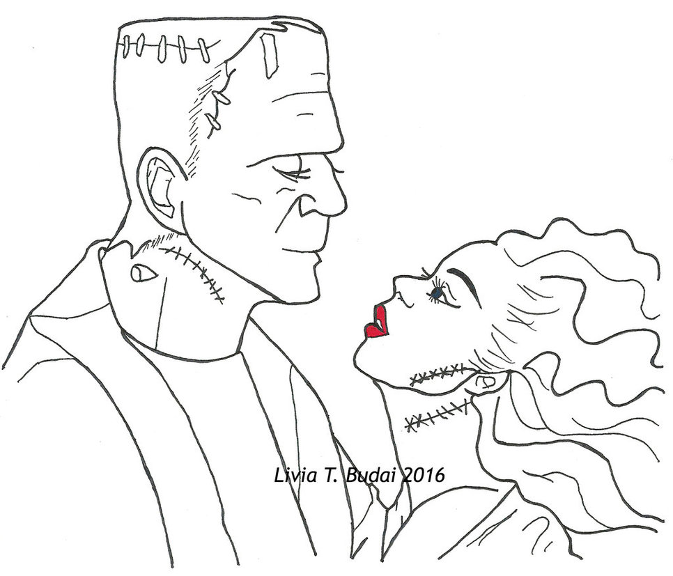 966x827 Frankenstein And His Bride By Kitteh Pawz