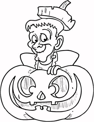 371x480 Halloween Frankenstein Coloring Page Free Printable Coloring Pages