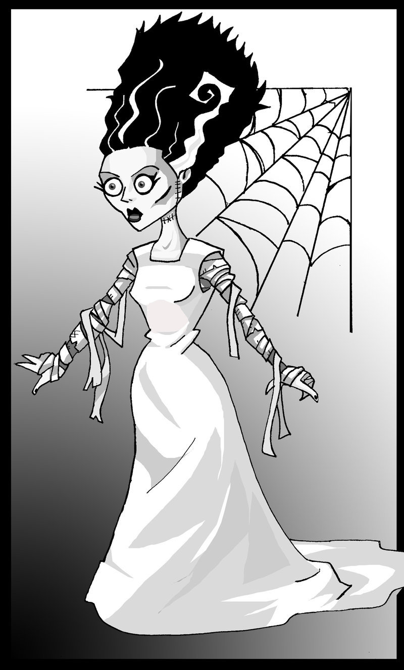 800x1327 The Bride Of Frankenstein By Memorypalace