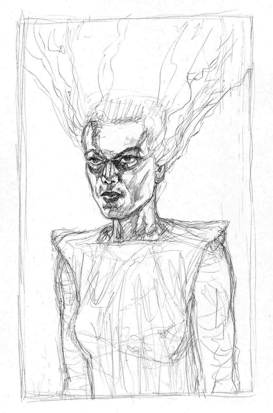 1058x1600 the john douglas mostly comic book art site the bride of - Bride Of Frankenstein Coloring Pages 2