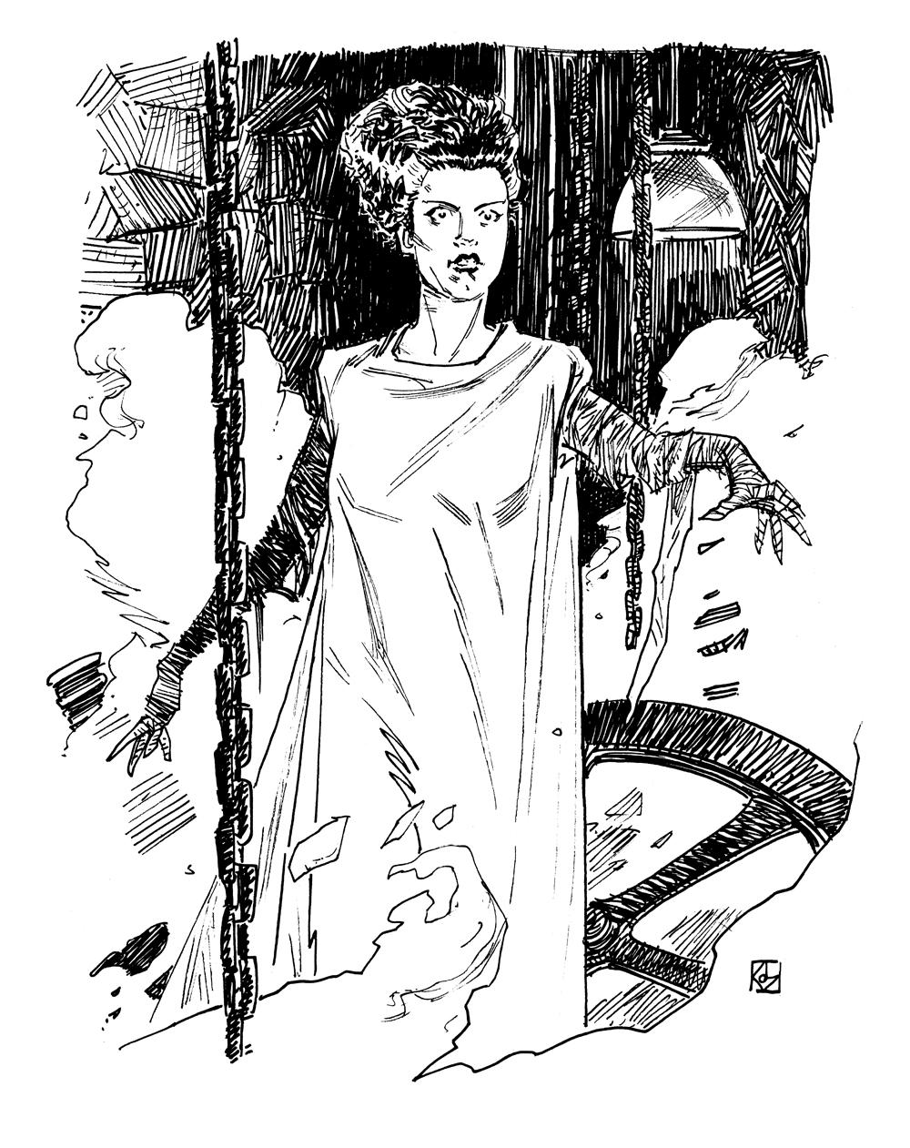 1000x1261 Universal Monsters Bride Of Frankenstein Dean Kotz