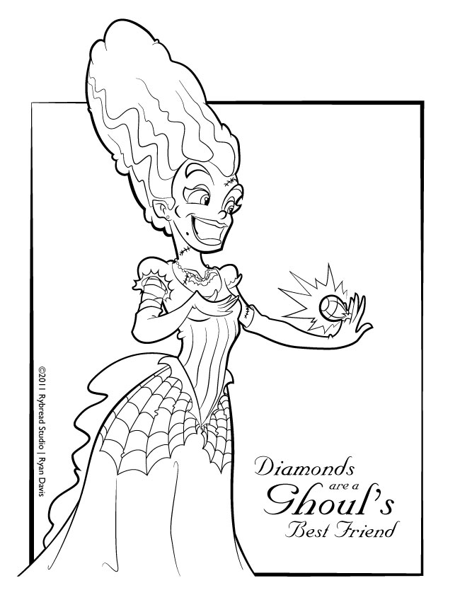bride of frankenstein drawing at getdrawings com free for personal
