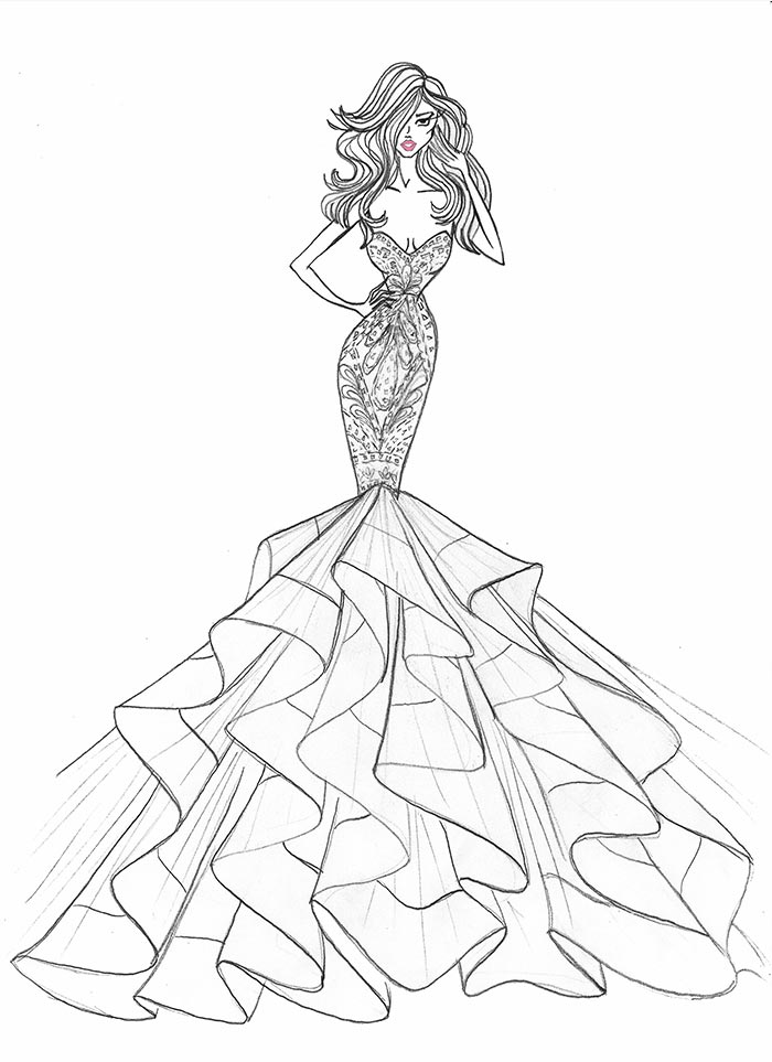 700x963 5 Questions With Designer Hayley Paige Sketches Fashion