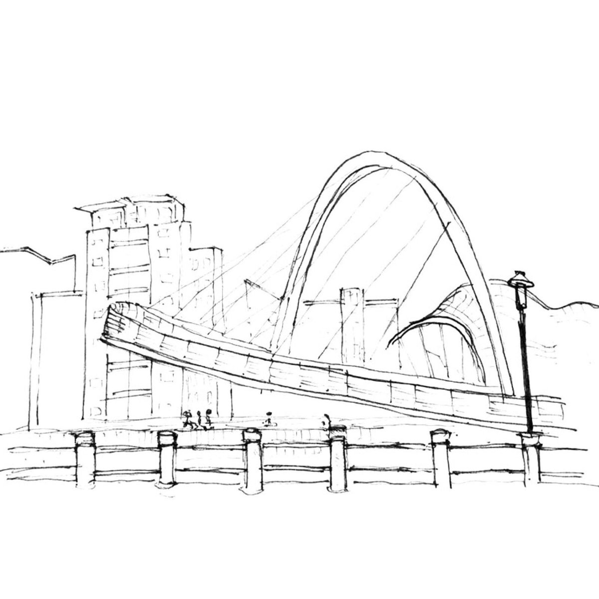 1200x1200 Eliott Wells On Twitter Quick Sketch Of Gateshead Millennium