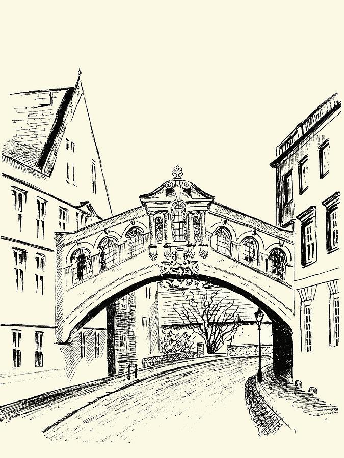 675x900 Bridge Of Sighs Drawing By Elizabeth Lock