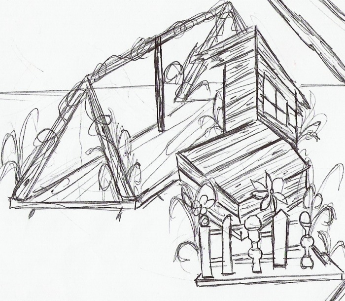 700x610 Bridge To Terabithia Bridge Drawing Images