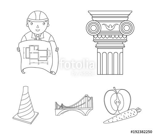 500x438 Column, Master With Drawing, Bridge, Index Cone. Architecture Set