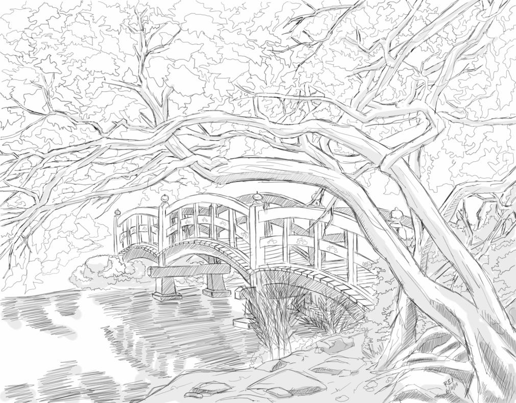1011x790 Garden Bridge By Reiman76