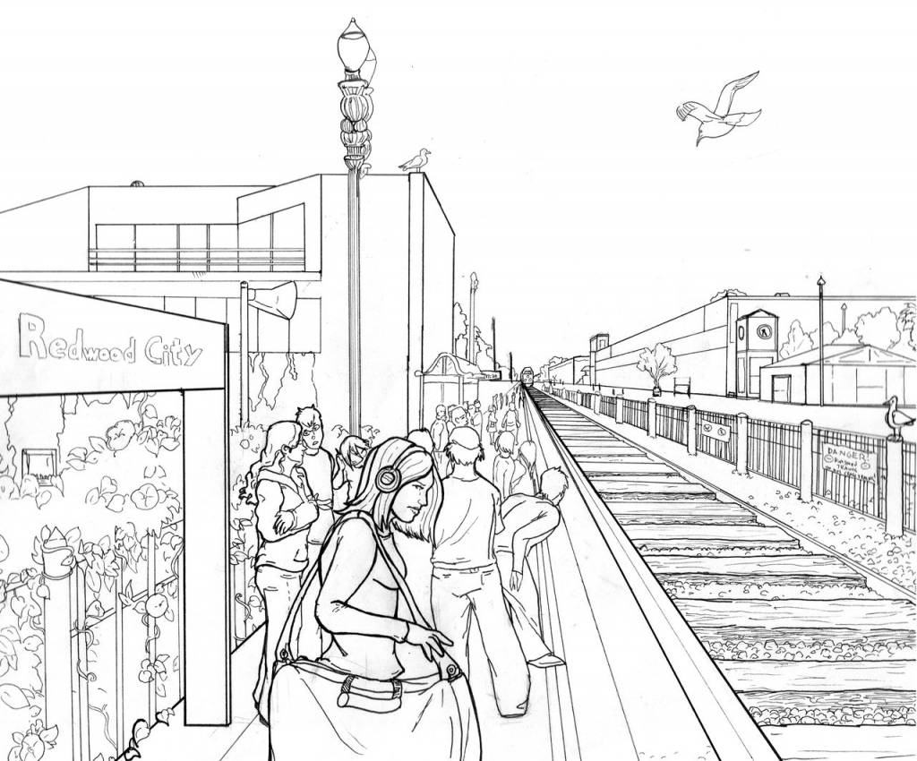 1024x850 Landscape Perspective Drawing Perspective In Landscape Drawing