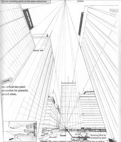 236x277 3 Point City Perspective Perspective And Croquis