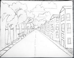 236x187 One Point Perspective Bridge My Paintings And Drawings