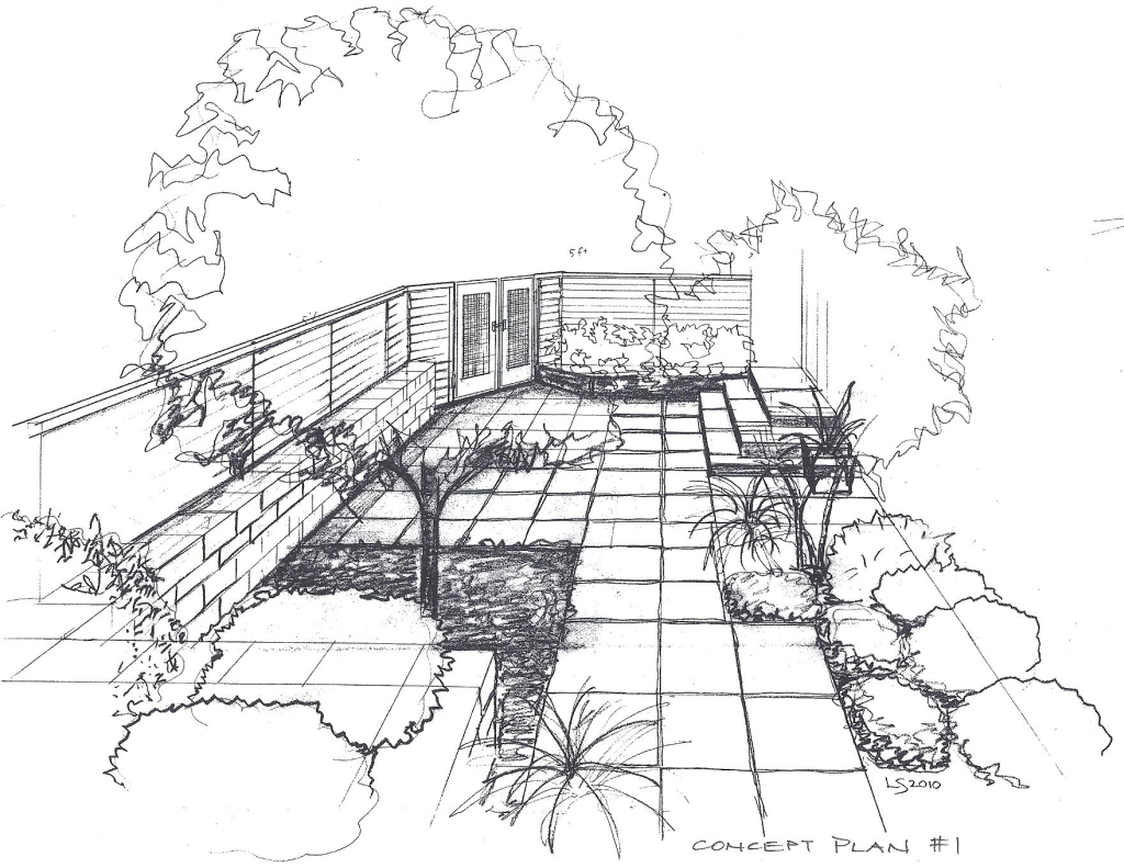 1024x791 Drawing A Landscape In Perspective Landscape Perspective Drawing