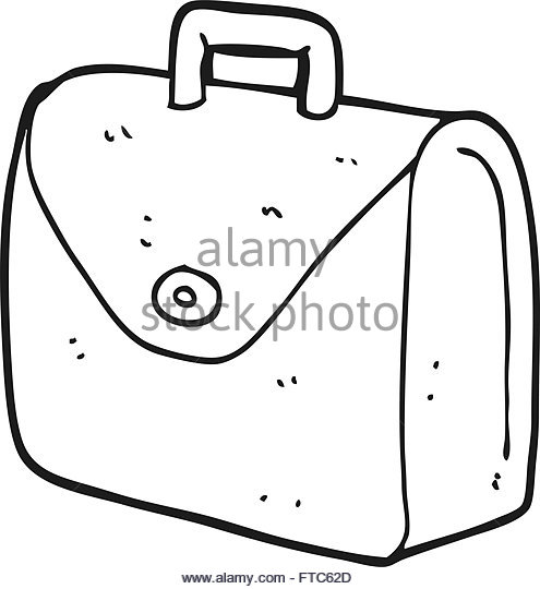 495x540 Freehand Drawn Cartoon Old Briefcase Stock Photos Amp Freehand Drawn