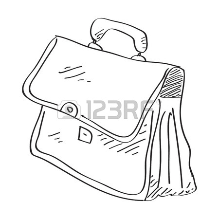 450x450 Simple Hand Drawn Doodle Of A Briefcase Royalty Free Cliparts