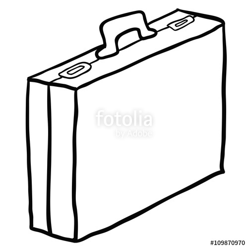 500x500 Black And White Cartoon Briefcase Stock Image And Royalty Free