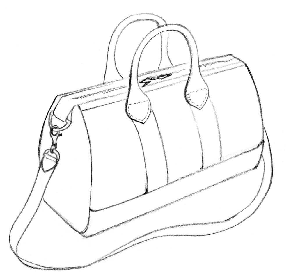 1000x959 Fashion Designers Drawings Of Handbags