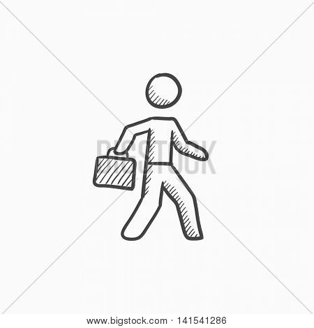 450x470 Businessman Walking Briefcase Vector Amp Photo Bigstock