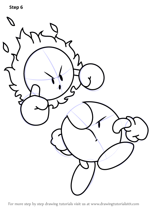 596x843 Learn How To Draw Mr. Shine And Mr. Bright From Kirby (Kirby) Step