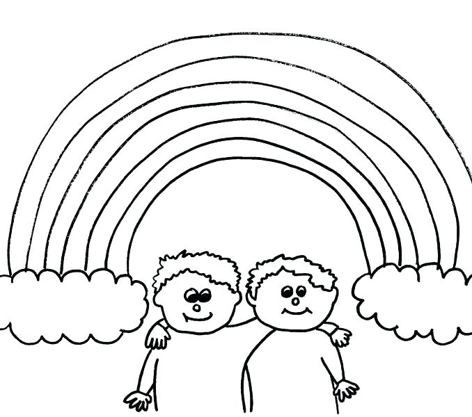 678x600 Rainbow Coloring Pages For Kids Printable Rainbow Coloring Page