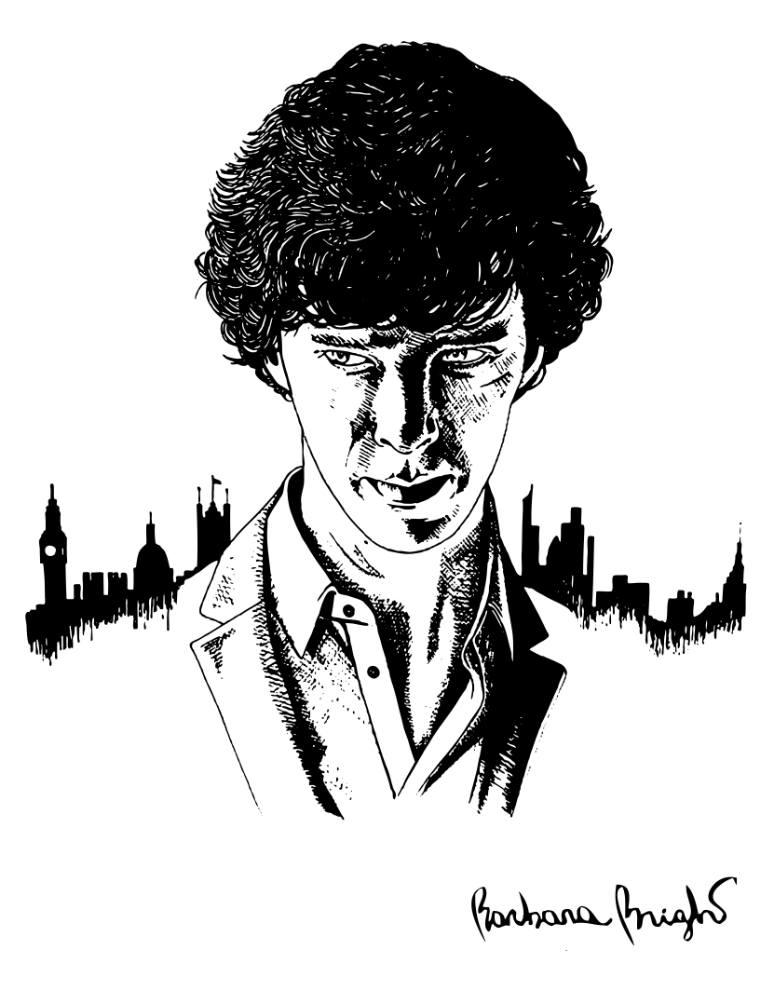 770x990 Saatchi Art Benedict Cumberbatch As Sherlock Drawing By Barbara