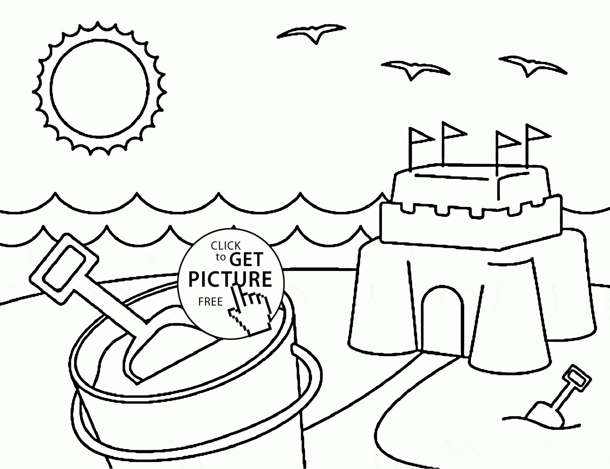 2080x1600 Summer Coloring Pages With Sun For Kids Awesome Drawing Summer