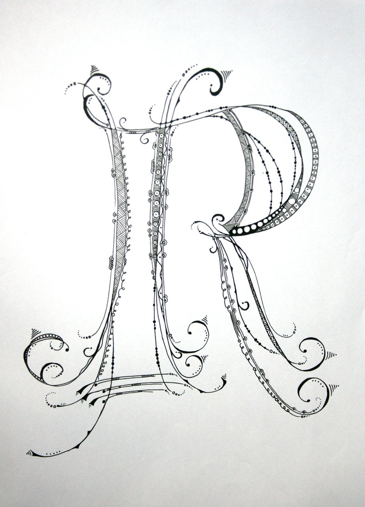 736x1020 Zentangle Alphabet Drawing On Bright White Drawing Paper
