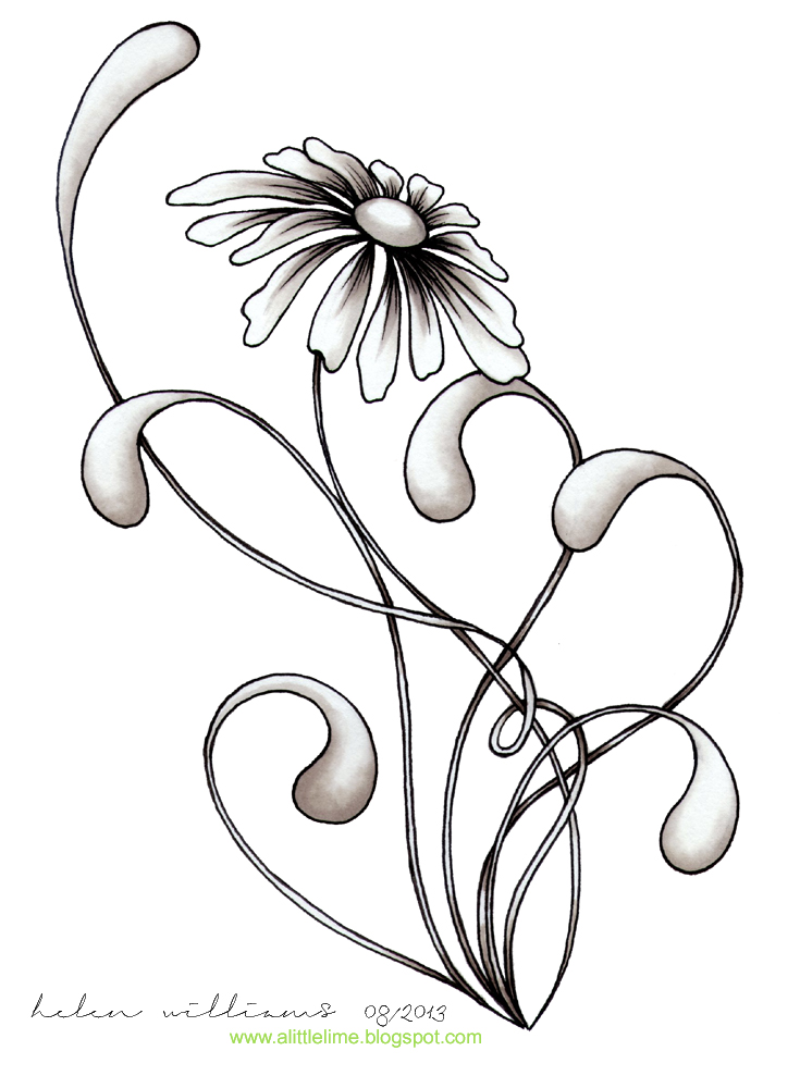 735x1000 Daisy. Add Just A Touch Of Accent For A Bright Zing. Ink Art