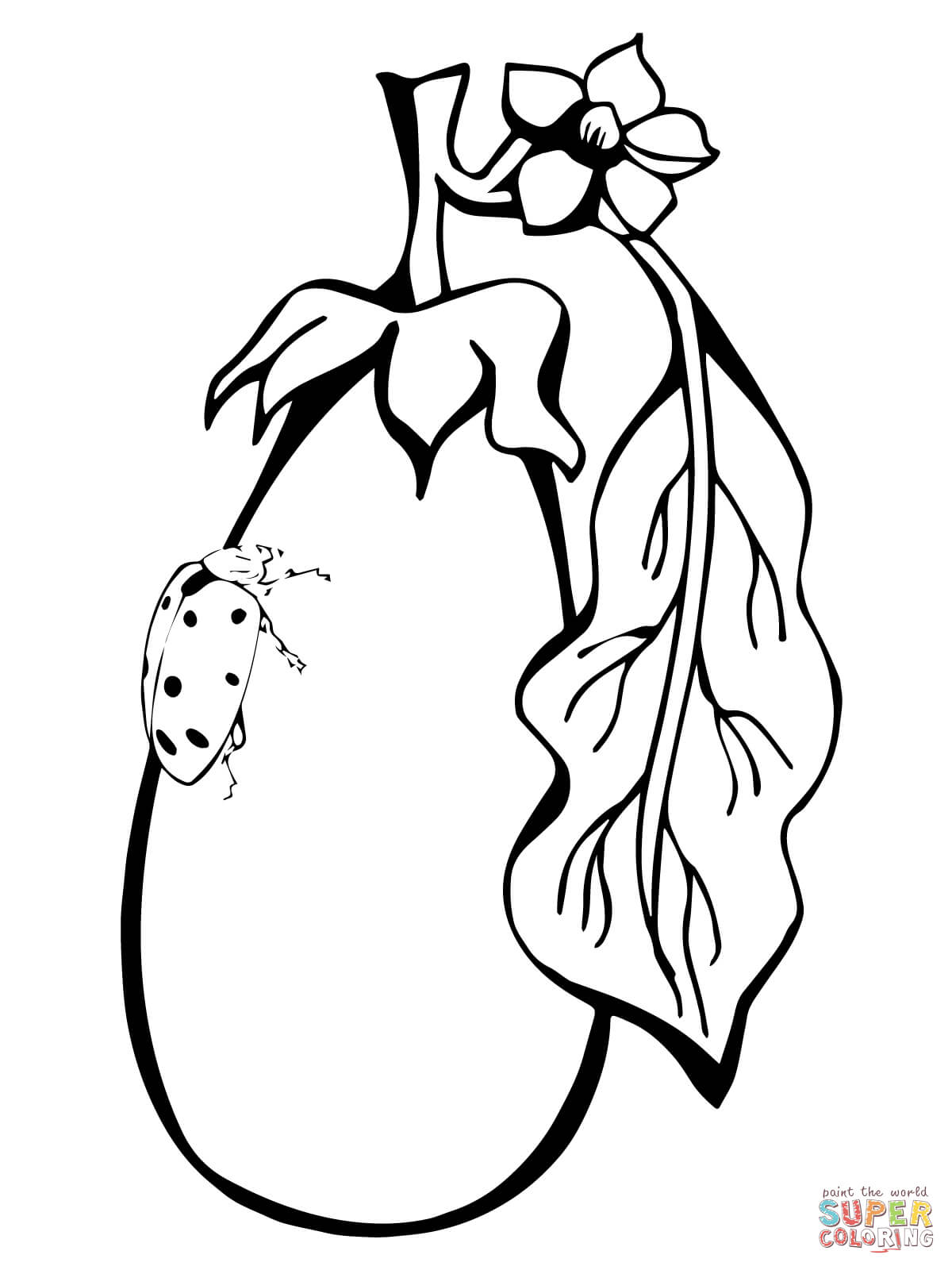 1200x1600 Eggplant Coloring Pages Free Coloring Pages