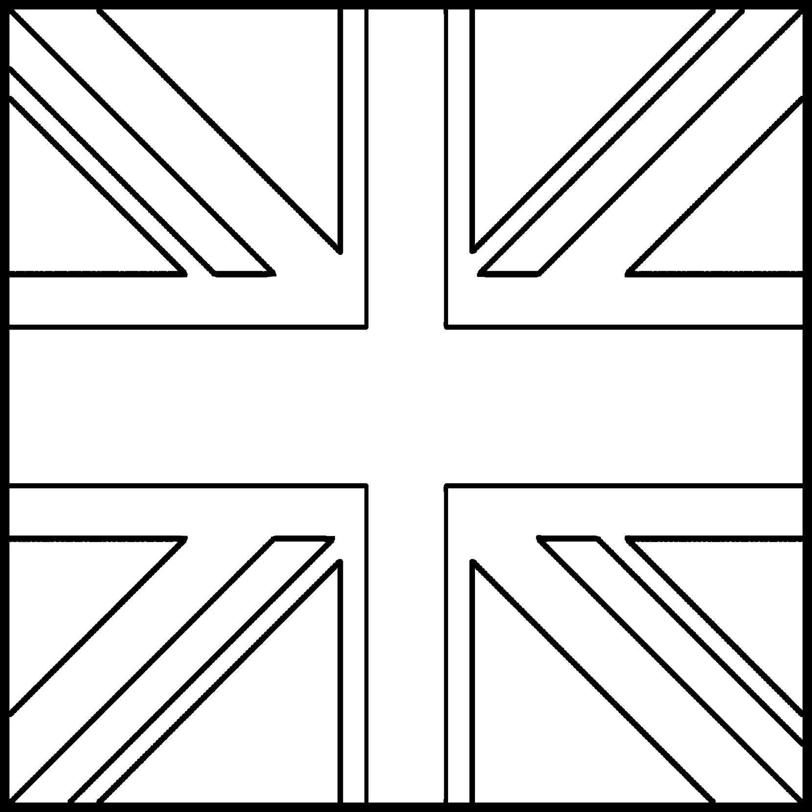 image about Printable British Flag identified as British Flag Drawing at  No cost for person