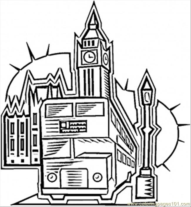 650x704 In London Coloring Page