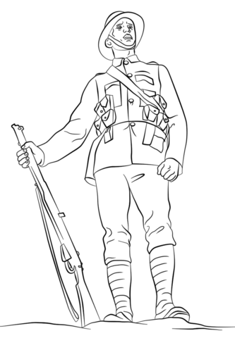 333x480 Wwi British Soldier Coloring Page Free Printable Coloring Pages
