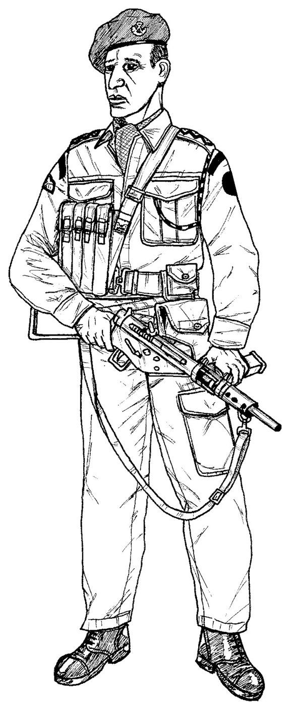 British Soldier Drawing