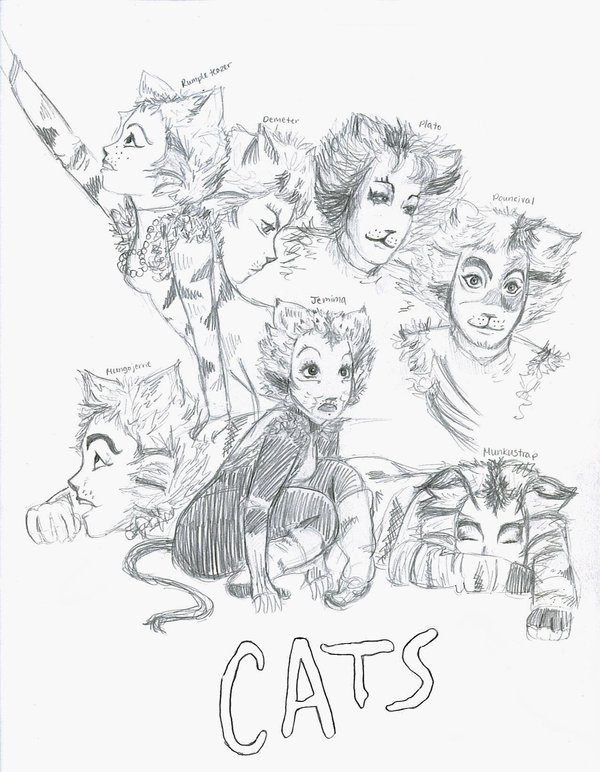 600x772 Cats Sketches 3 By Kumu18 Cats And Broadway Cat