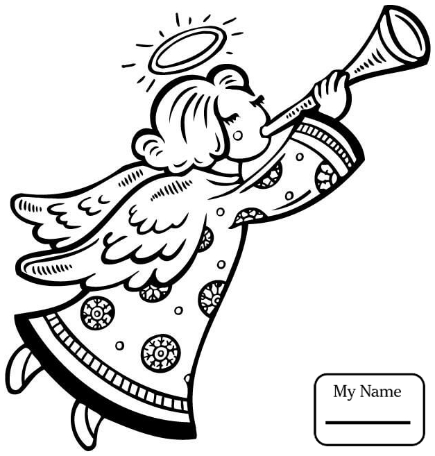 627x657 Angel Girl Fantasy Mythology Coloring Pages