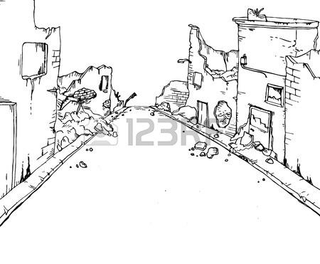 450x371 Broken Street Royalty Free Cliparts, Vectors, And Stock